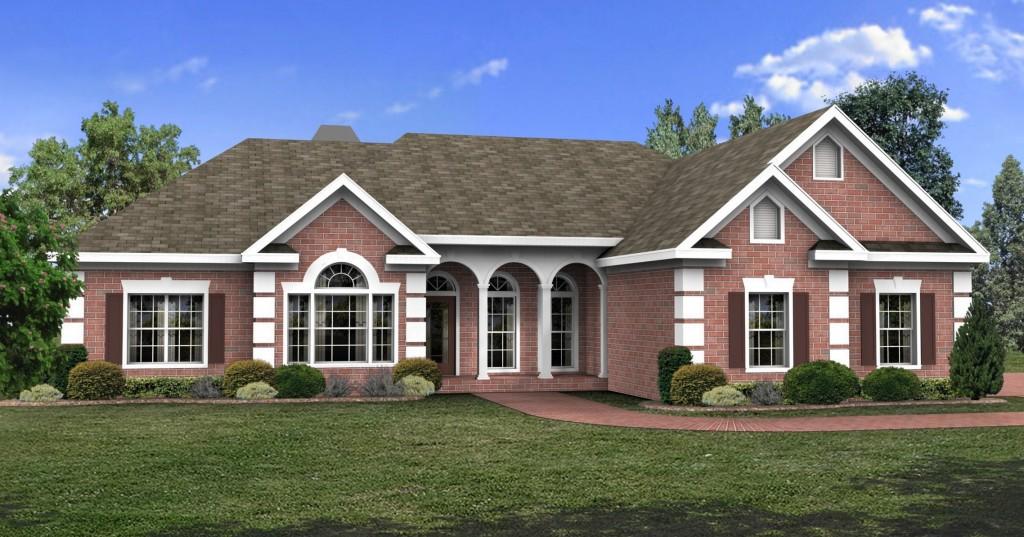 Elegant brick exterior sdl custom homes for South georgia custom homes