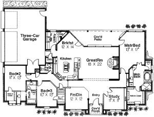 Angled Nook Home Plan Floor Plan