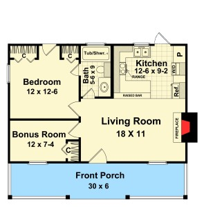 first floor of cape cod vacation Plan Image