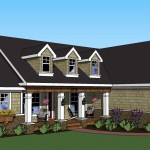 cape cod style home with custom floor plan