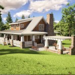 cottage style cape cod home plan