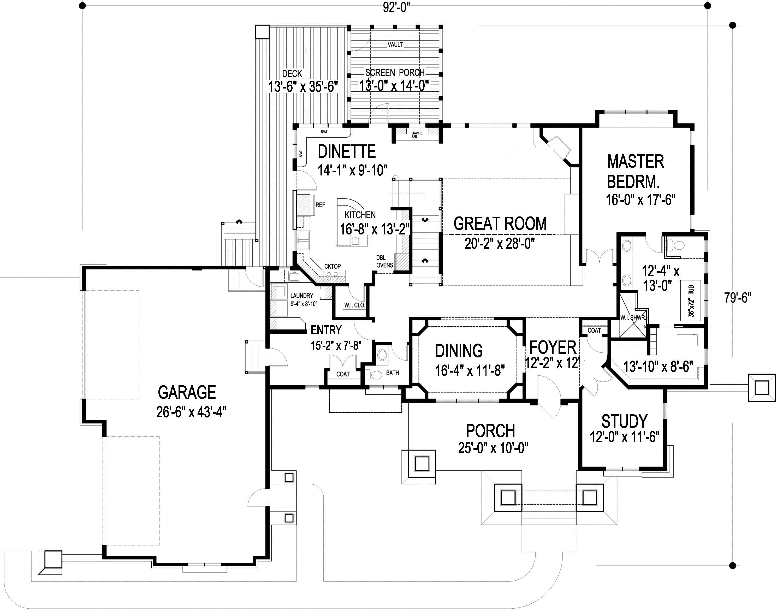Craftsman Gem First Floor Plan Sdl Custom Homes