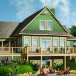 cape cod style custom vacation home plan