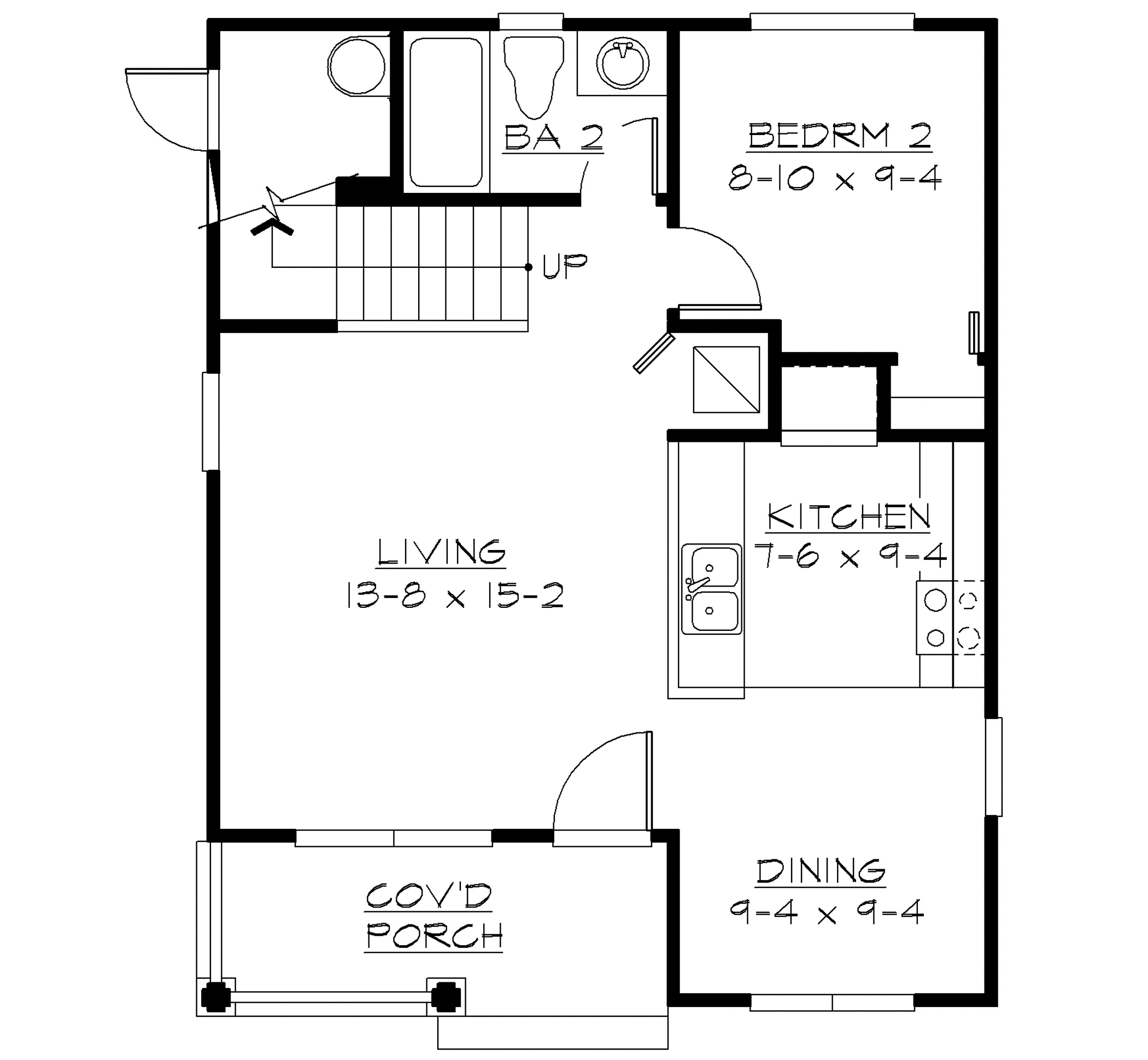 Small house plan first floor layout sdl custom homes for Floor plans first