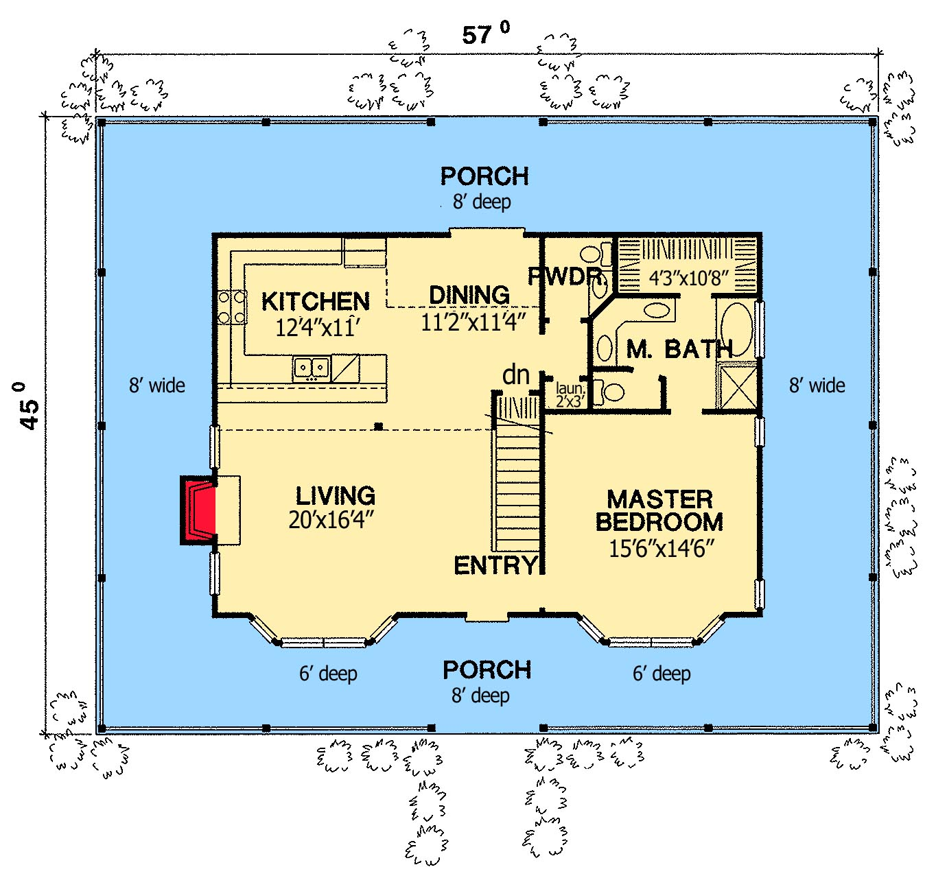Special wrap around porch first floor plan sdl custom homes for Wrap around porch floor plans