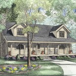 cape cod style home with front porch plan