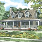 cape cod style home with wrap around porch