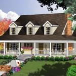 cape code home plan with porch