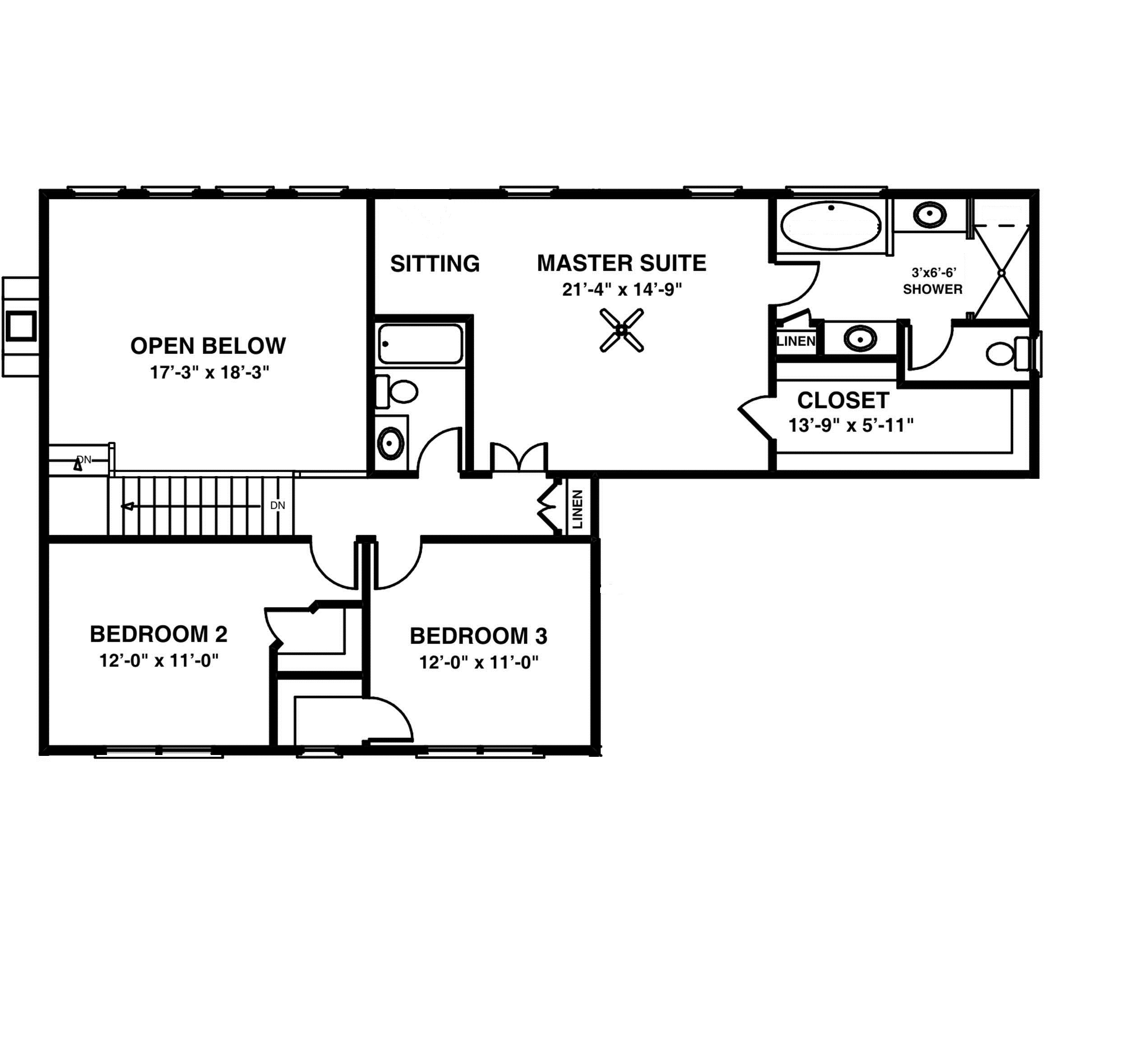 Cozy Porch and In Law Suite Second Floor Plan   SDL Custom Homes