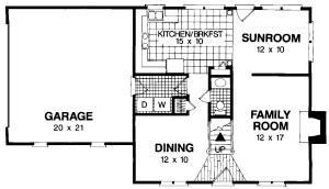 Traditional Three Bedroom Plan Image - Floor 1