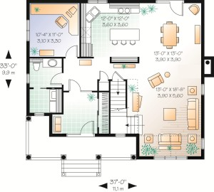 Attractive Country Plan Image - First Floor