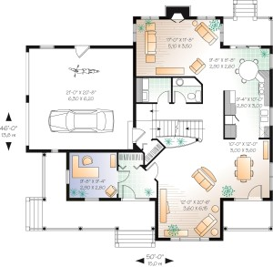 Three Charming Porches Plan Image - Floor 1