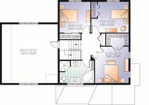 charming and compact home plan - second floor