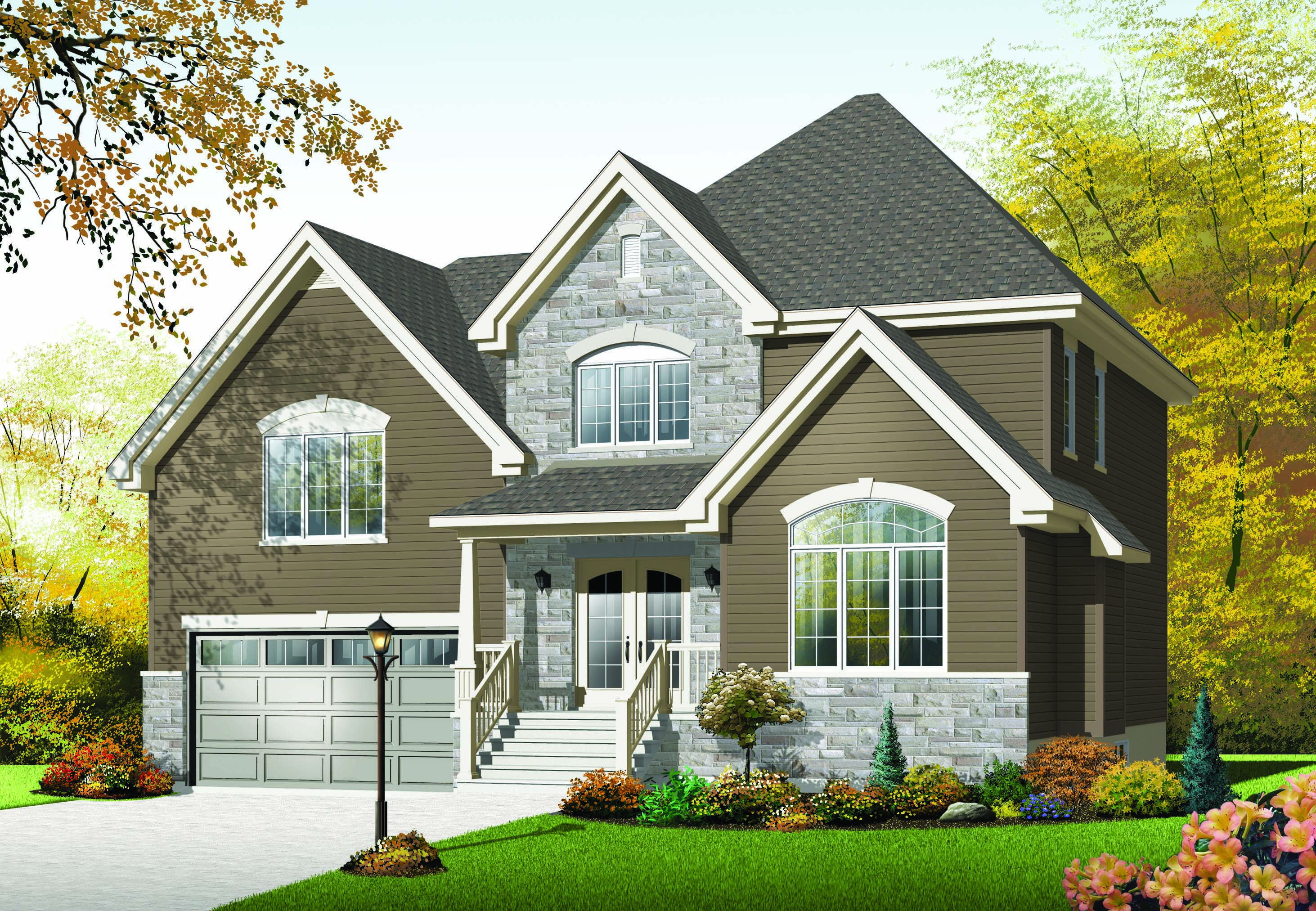 charming and compact three bedroom home plan