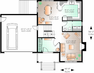 charming and compact home plan - first floor