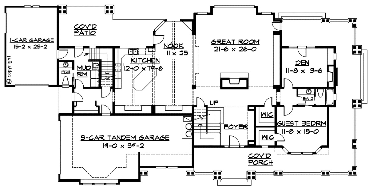 Luxury craftsman first floor plan sdl custom homes for Luxury custom floor plans
