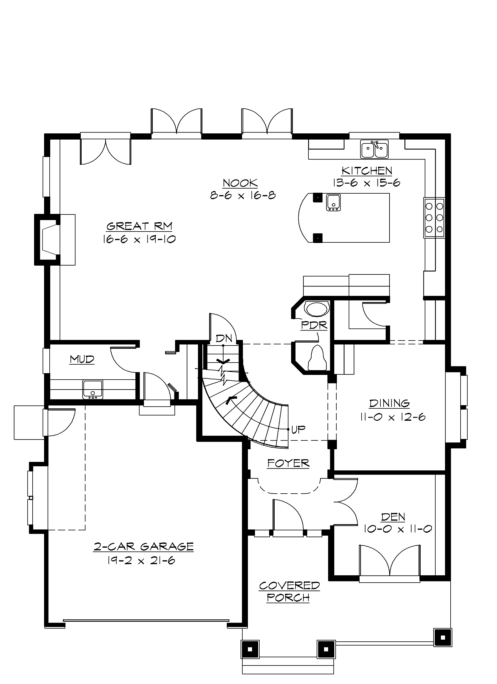 Craftsman bungalow first floor plan sdl custom homes for Custom bungalow house plans