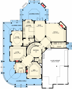 Custom award winning two story home plan maverick homes for Award winning one story house plans