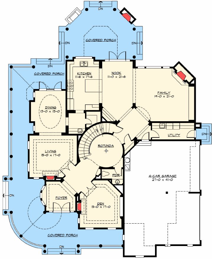 Award Winning Luxury House Plan: Award Winning House First Floor Plan