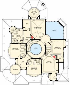 Custom award winning two story home plan maverick homes for Award winning floor plans
