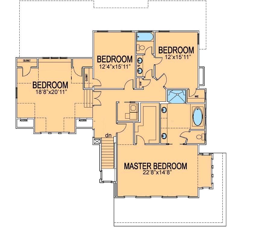 Award Winning Small House Plans: Award Winning Farmhouse Plan Second Floor Layout