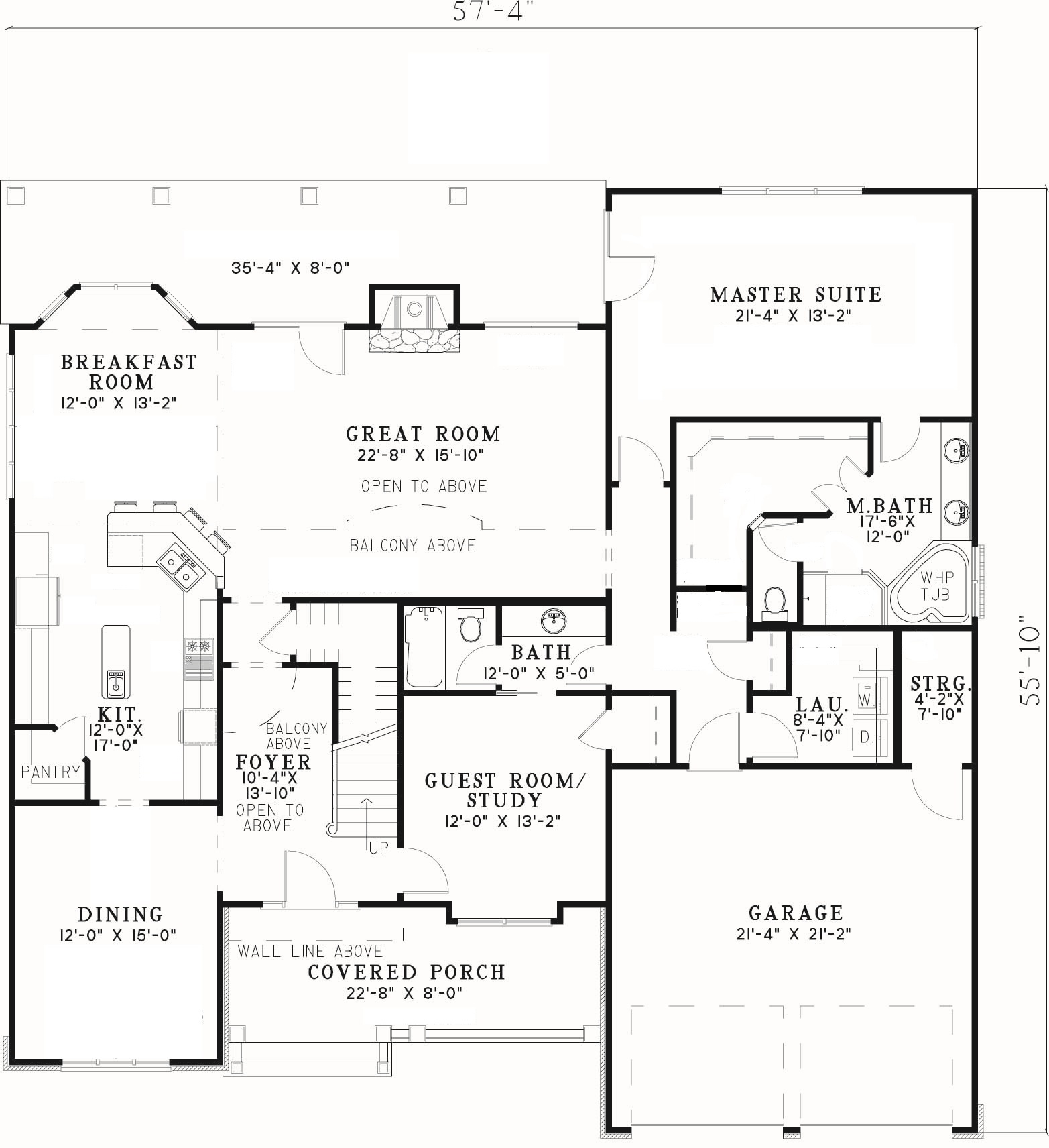 Creative blending of materials first floor plan sdl for Custom one story home plans