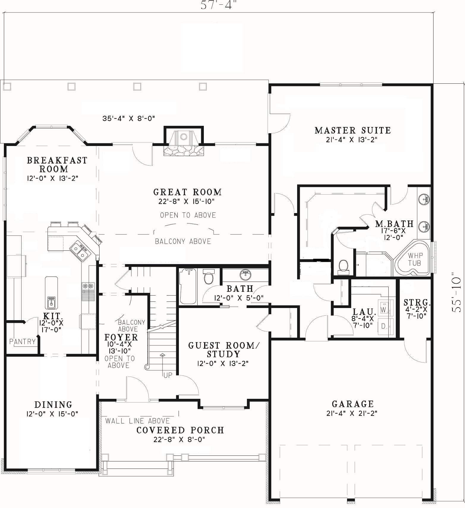 Creative blending of materials first floor plan sdl for One story custom home plans