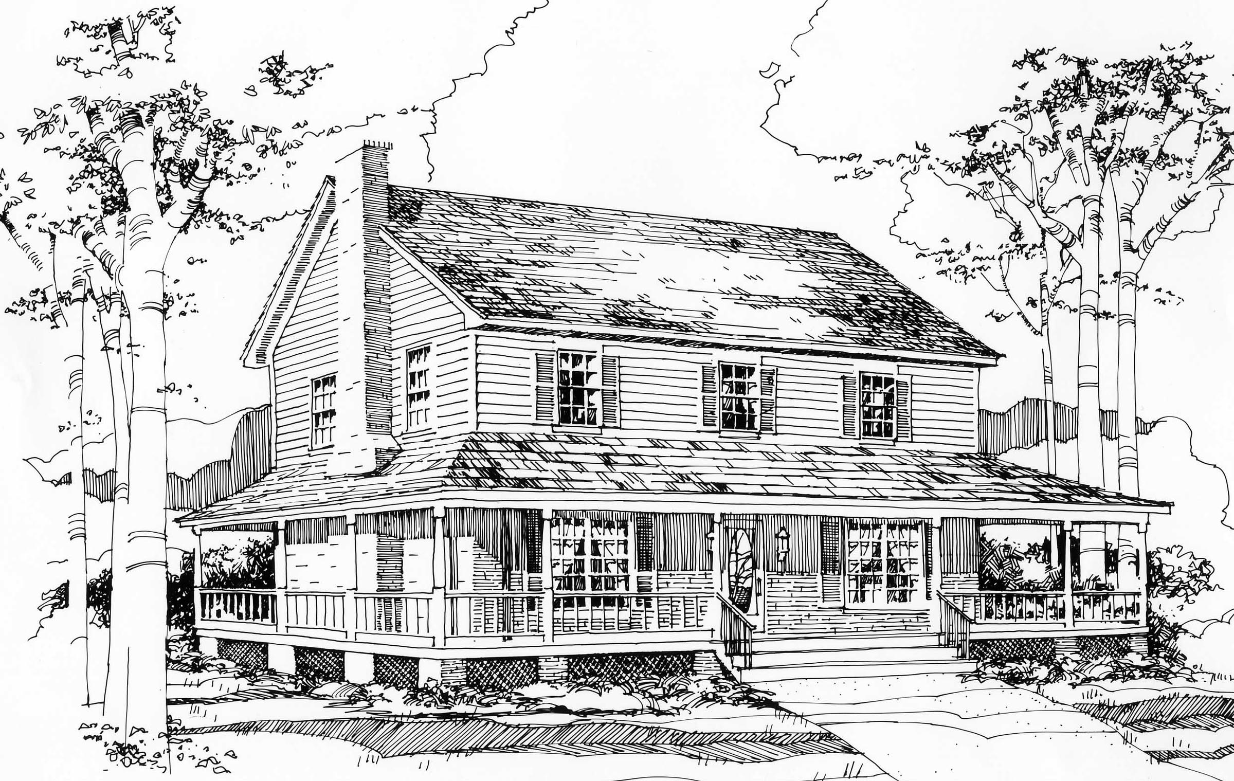 Two Story Classic Traditional Plan