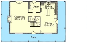 Classic Traditional Plan Image - First Floor