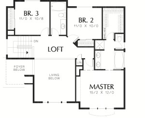 Sloping Lot Country Plan Image - Floor 2