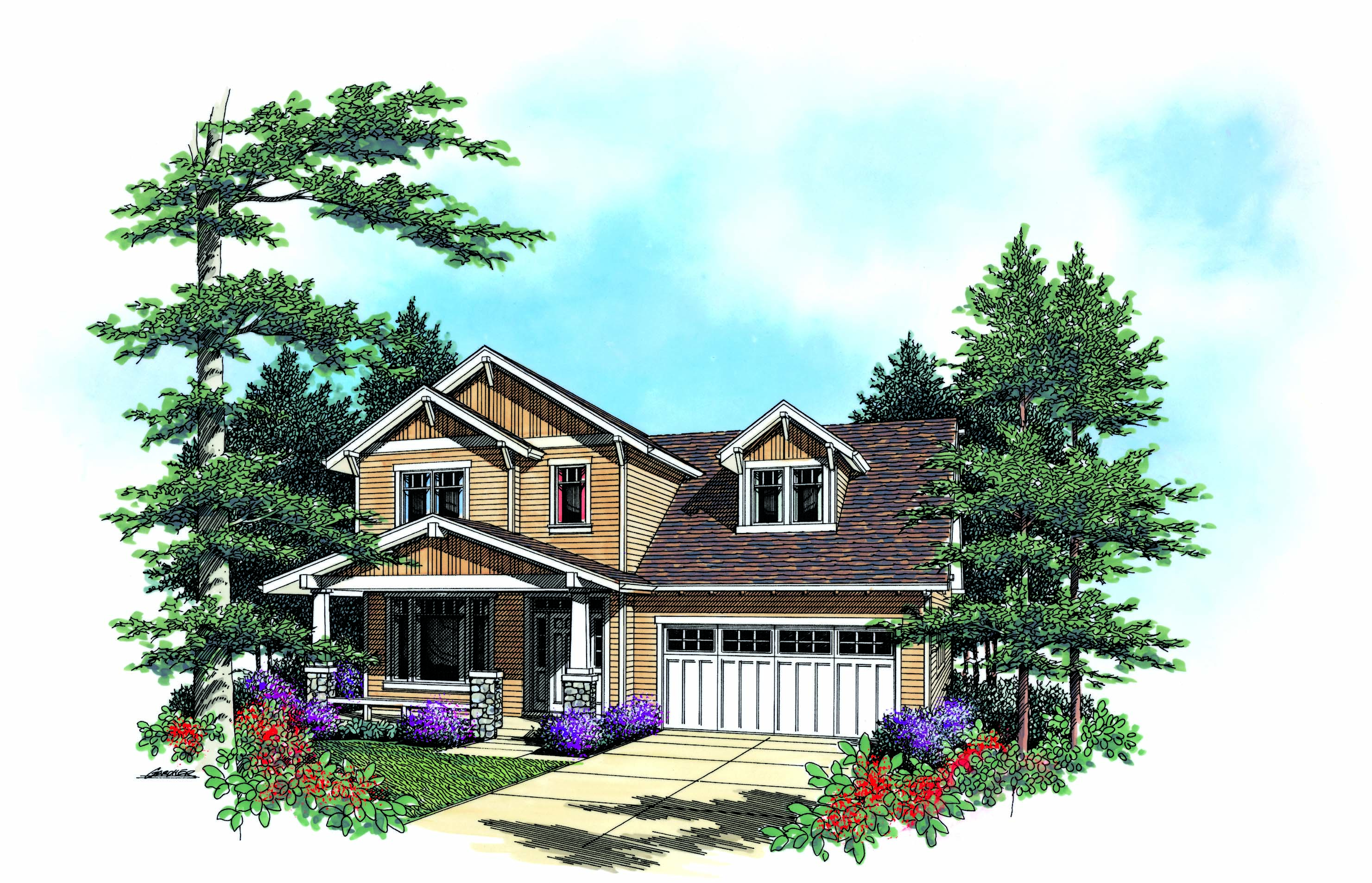 Craftsman home plan sdl custom homes for Custom craftsman home builders