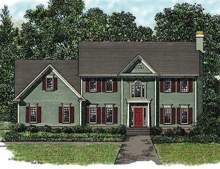 Traditional two story with bonus room sdl custom homes for Traditional 2 story house